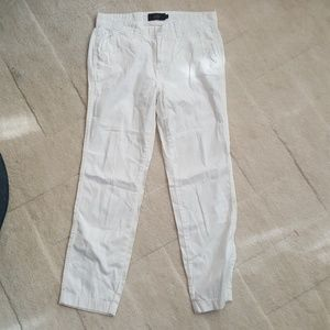 J. Crew White Chino Pants Sz 2 New w/o Tags